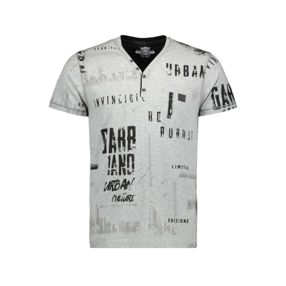 t shirt 13868 gabbiano t-shirt grey