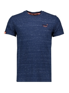 Superdry T-shirt VINTAGE EMBROIDERY TEE M10168EU FAUX INDIGO SPACE DYE