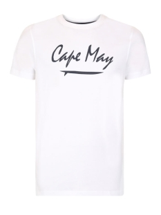 Cape May T-shirt CREST CM193001 004 WIT