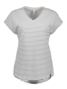 Zoso T-shirt ANGIE STRIPED T SHIRT 193 WHITE/BLACK