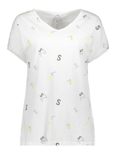 Zoso T-shirt SKAI T SHIRT WITH PRINT 193 WHITE/YELLOW