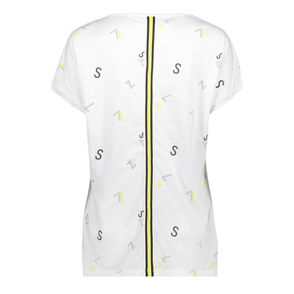 skai t shirt with print 193 zoso t-shirt white/yellow