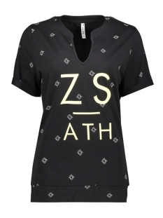 Zoso T-shirt SKALA PRINTED SHIRT 193 BLACK