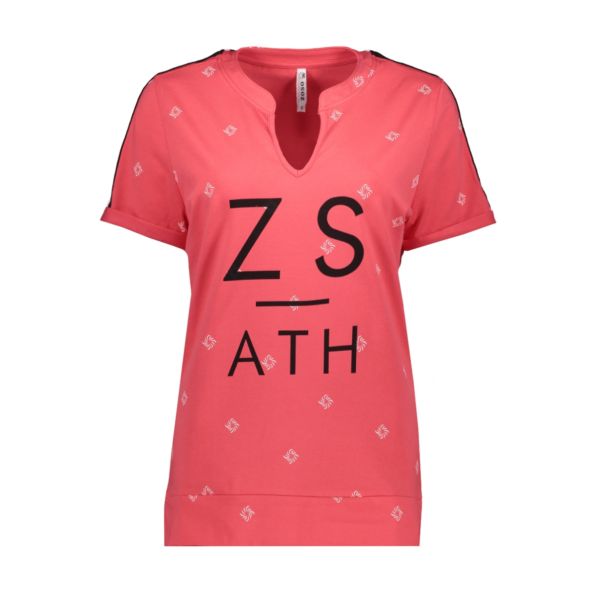 skala printed shirt 193 zoso t-shirt red