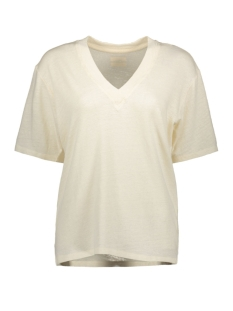 10 Days T-shirt REVIRSIBLE LOW V NECK 20 749 9103 WINTER WHITE