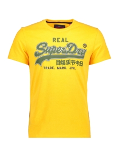 vintage logo entry tee m10007sr superdry t-shirt pitch yellow