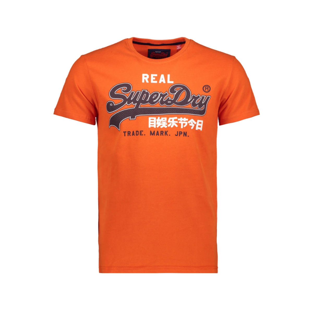 vintage logo entry tee m10007sr superdry t-shirt pitch orange