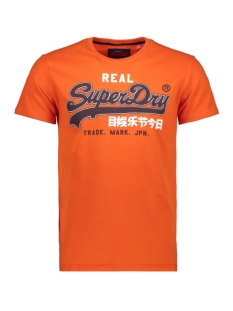 Superdry T-shirt VINTAGE LOGO ENTRY TEE M10007SR PITCH ORANGE