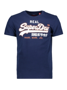 Superdry T-shirt VINTAGE LOGO ENTRY TEE M10007SR TIN TAB NAVY
