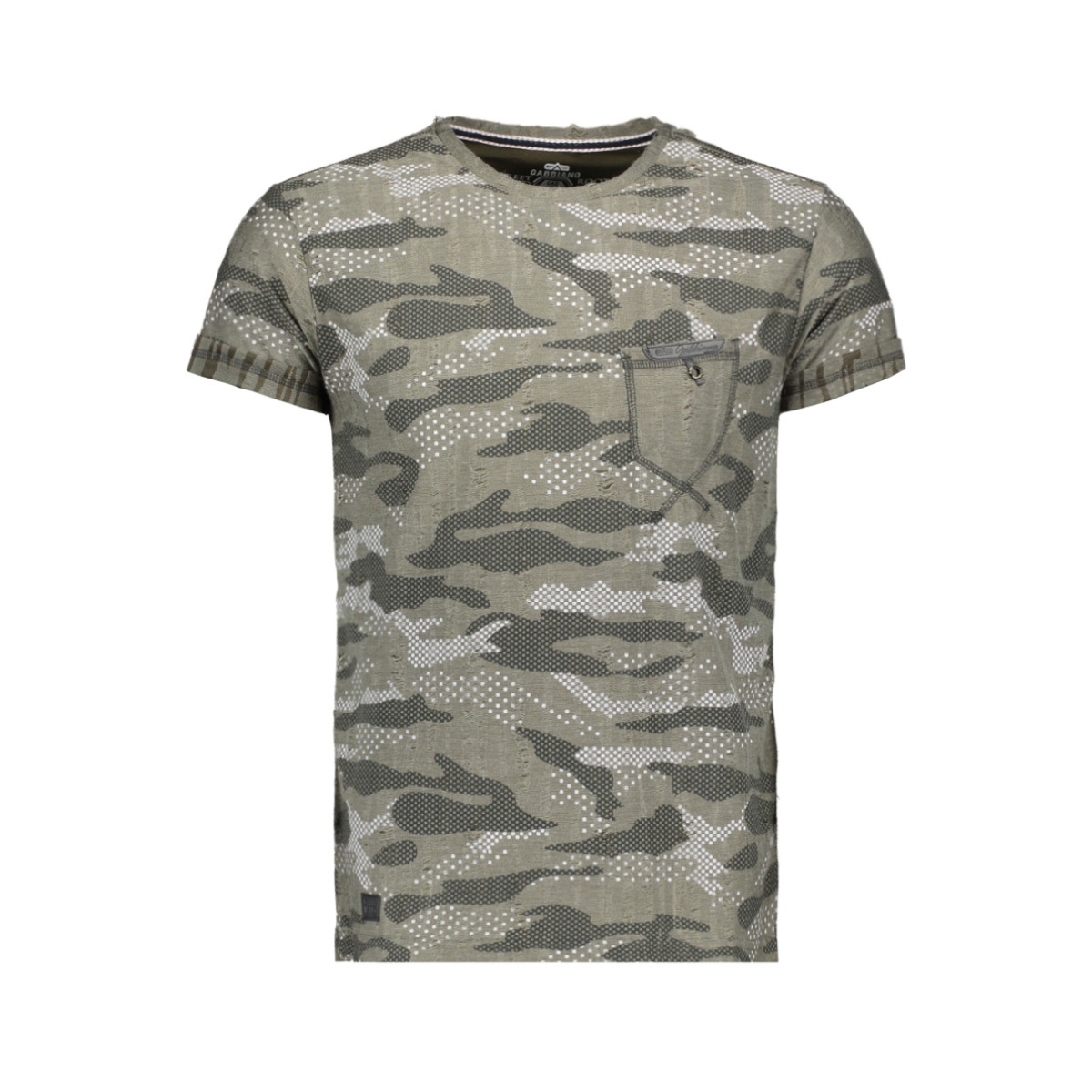 t shirt 13830 gabbiano t-shirt army