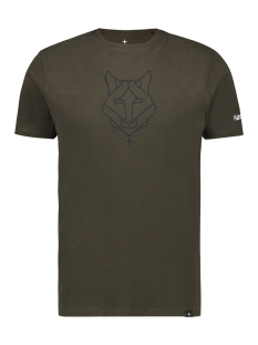 Haze & Finn T-shirt TEE HUSKY EMBRO MU12 0006 ARMY GREEN DARK NAVY