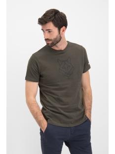 tee husky embro mu12 0006 haze & finn t-shirt army green dark navy