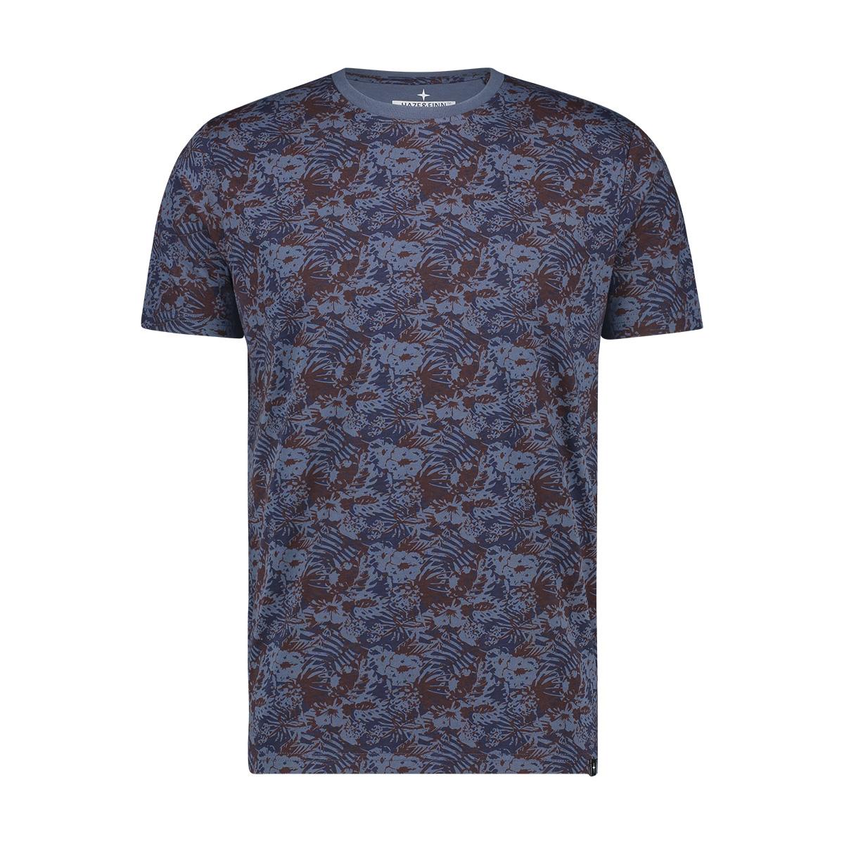 tee sublimation print mu12 0002 haze & finn t-shirt blue jungle