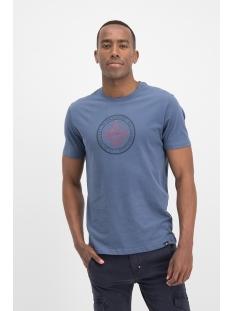 tee badge hd print mu12 0010 haze & finn t-shirt bering sea navy