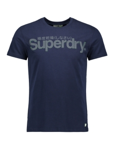 retro sport tonal tee m1000030a superdry t-shirt navy