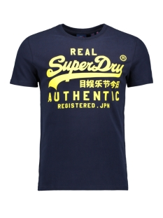 Superdry T-shirt VINTAGE AUTHENTIC FLURO TEE M1000056B RICH NAVY