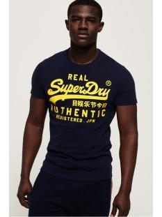 vintage authentic fluro tee m1000056b superdry t-shirt rich navy