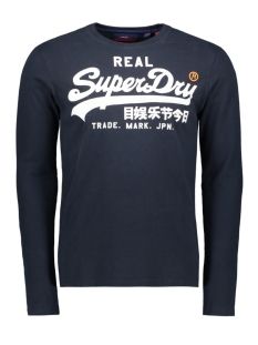 Superdry T-shirt VINTAGE LOGO 1ST DUO LS TEE M6000019A ECLIPSE NAVY