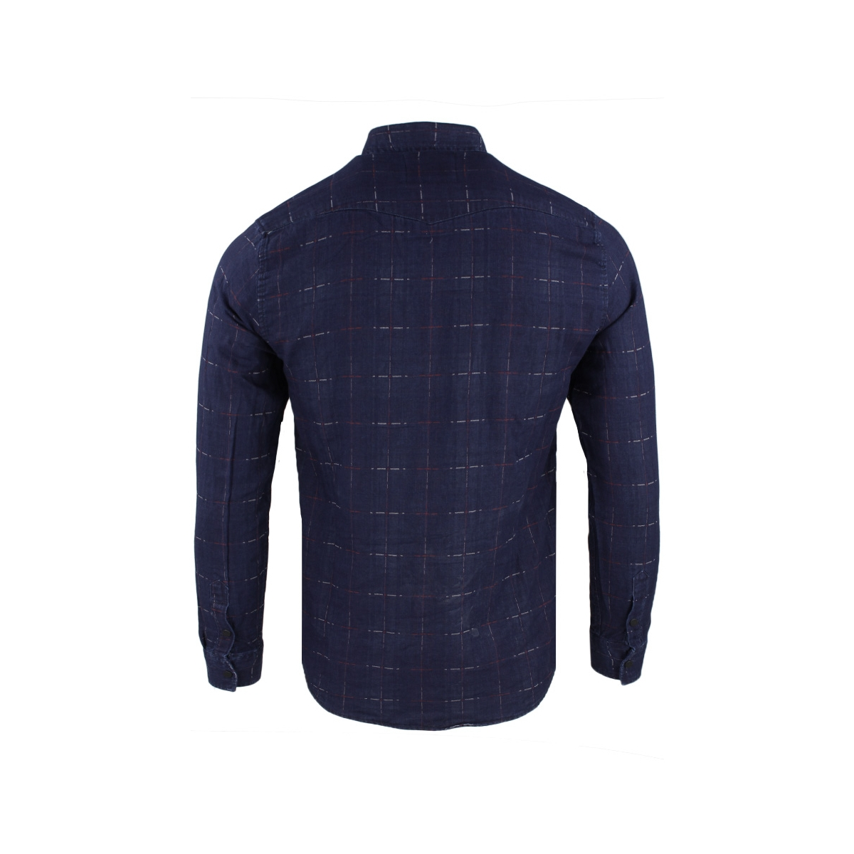 denim shirt 33831 gabbiano overhemd denim blue