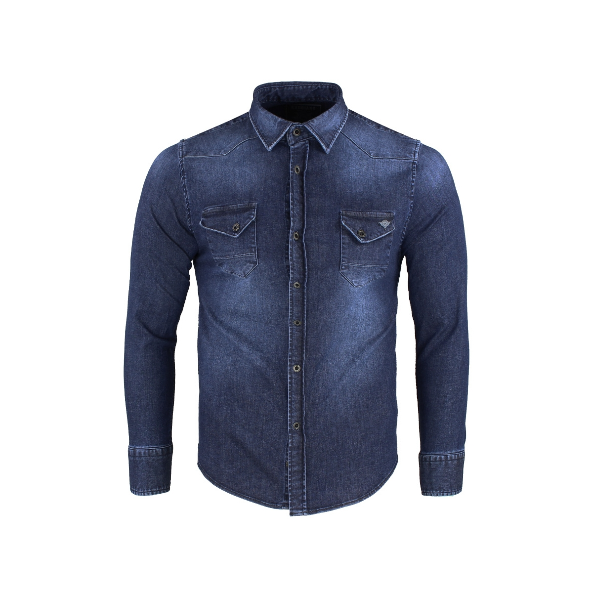 shirt 33803 gabbiano overhemd denim blue