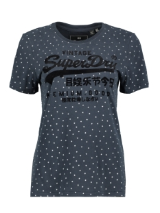 Superdry T-shirt SHIMMER ENTRY TEE W1000016B ECLIPSE NAVY
