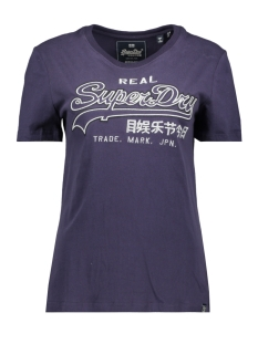 Superdry T-shirt OUTLINE ENTRY TEE W1000037A RINSE NAVY