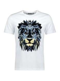 Antony Morato T-shirt T SHIRT WITH LION PRINT MMKS01663 FA100189 WHITE