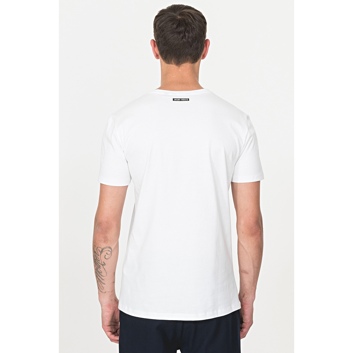 t shirt with lion print mmks01663 fa100189 antony morato t-shirt white