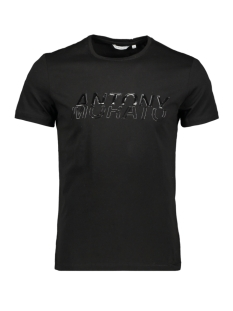 Antony Morato T-shirt MMKS01602 T SHIRT WITH PRINT BLACK