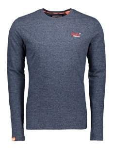 Superdry T-shirt EMBROIDERY LS TEE M60103ET CLASSIC BLUE FEEDER