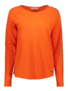 Smith & Soul T-shirt BASIC SWEAT 1019 1013 329 HOT ORANGE