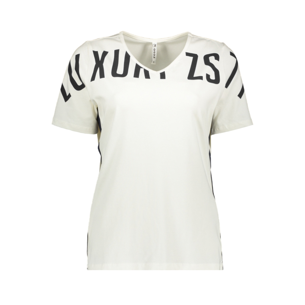 jerry t shirt with piping 194 zoso t-shirt off white/black