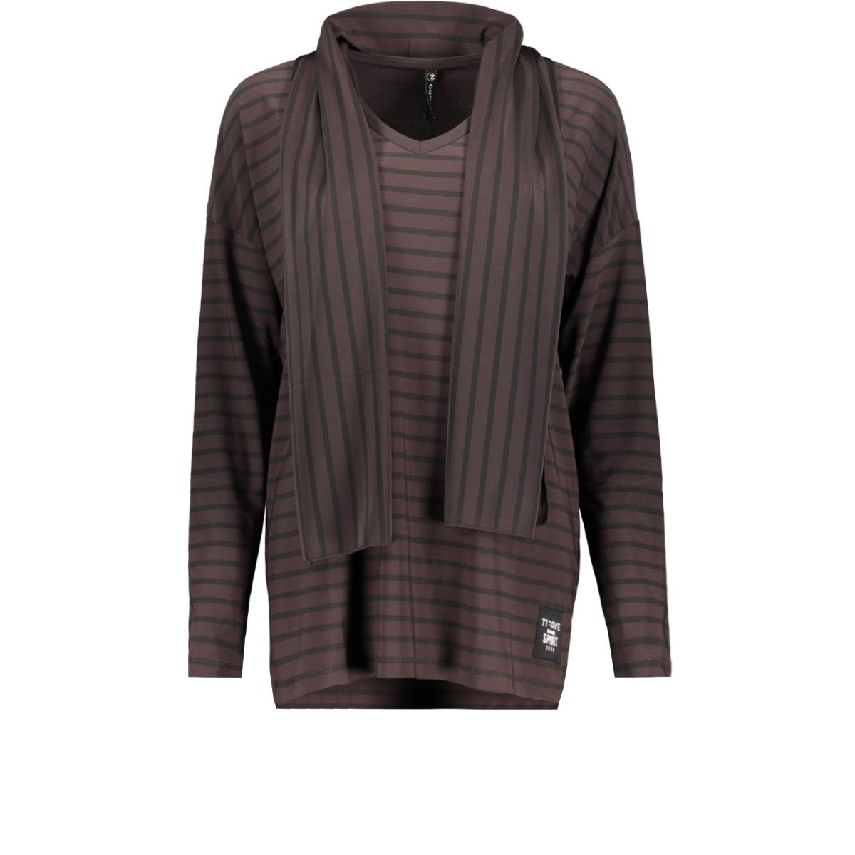 perry splendour fabric shirt zoso t-shirt brown/black