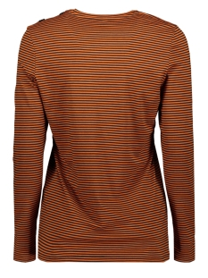 195 lafemme striped print shirt zoso t-shirt black/burnt orange