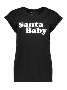 Be Famous T-shirt BFW01-SABA BLACK/WHITE