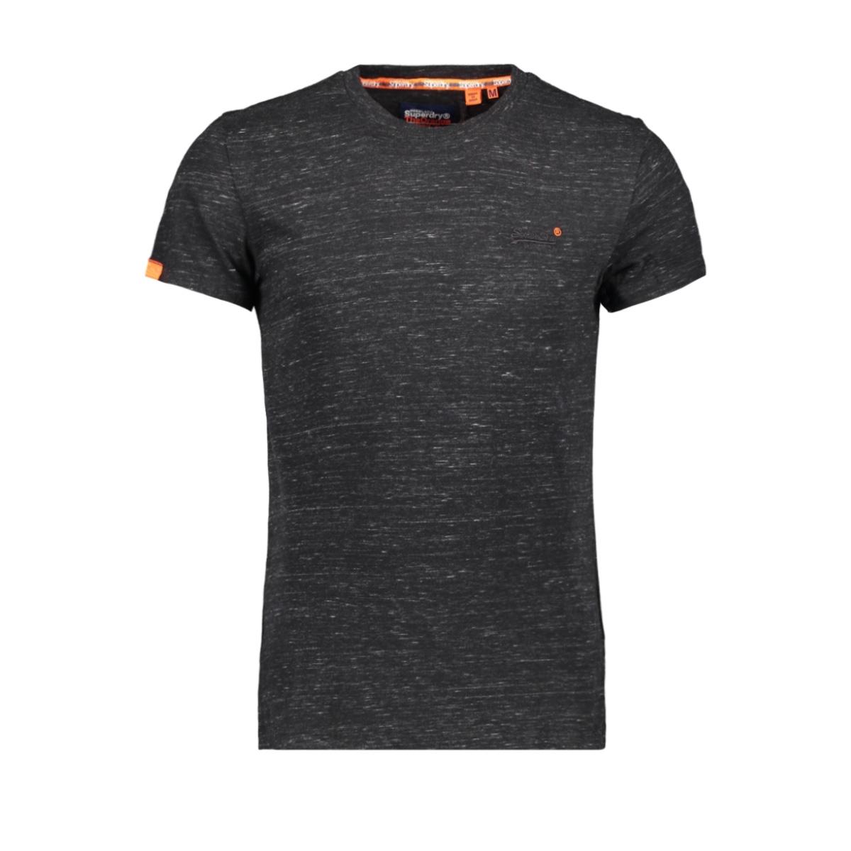 ol vintage embroidery tee m1000020a superdry t-shirt vast black space dye