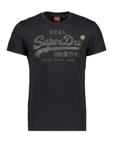 Superdry T-shirt VL TONAL TAPE TEE M1000112A BLACK