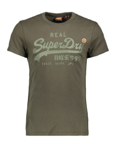 Superdry T-shirt VL TONAL TAPE TEE M1000112A SURPLUS GOODS OLIVE