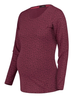 s1081 tee ls leopard supermom positie shirt rumba red