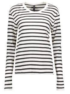 longsleeve stripes 20 773 0201 10 days t-shirt ecru/ black