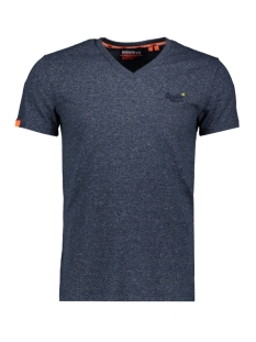 Superdry T-shirt VINTAGE EMB VEE TEE M1010032A ABYSS NAVY FEEDER