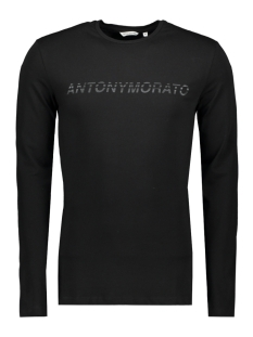 Antony Morato T-shirt SPORT THE GREEN LIN MMKL00271 9000 BLACK