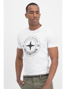 Haze & Finn T-shirt TEE LOGO CIRCLE ME 0018 ARCTIC WHITE