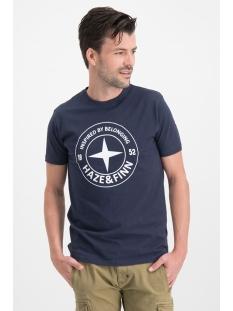 Haze & Finn T-shirt TEE LOGO CIRCLE ME 0018 NAVY