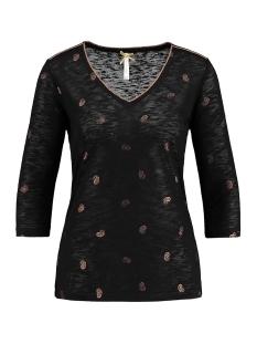 Key Largo T-shirt WLS DROP V NECK WLS00220 1100 BLACK