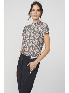 Aaiko T-shirt ALICIA LEAVES VIS 200 STEEL GREEN
