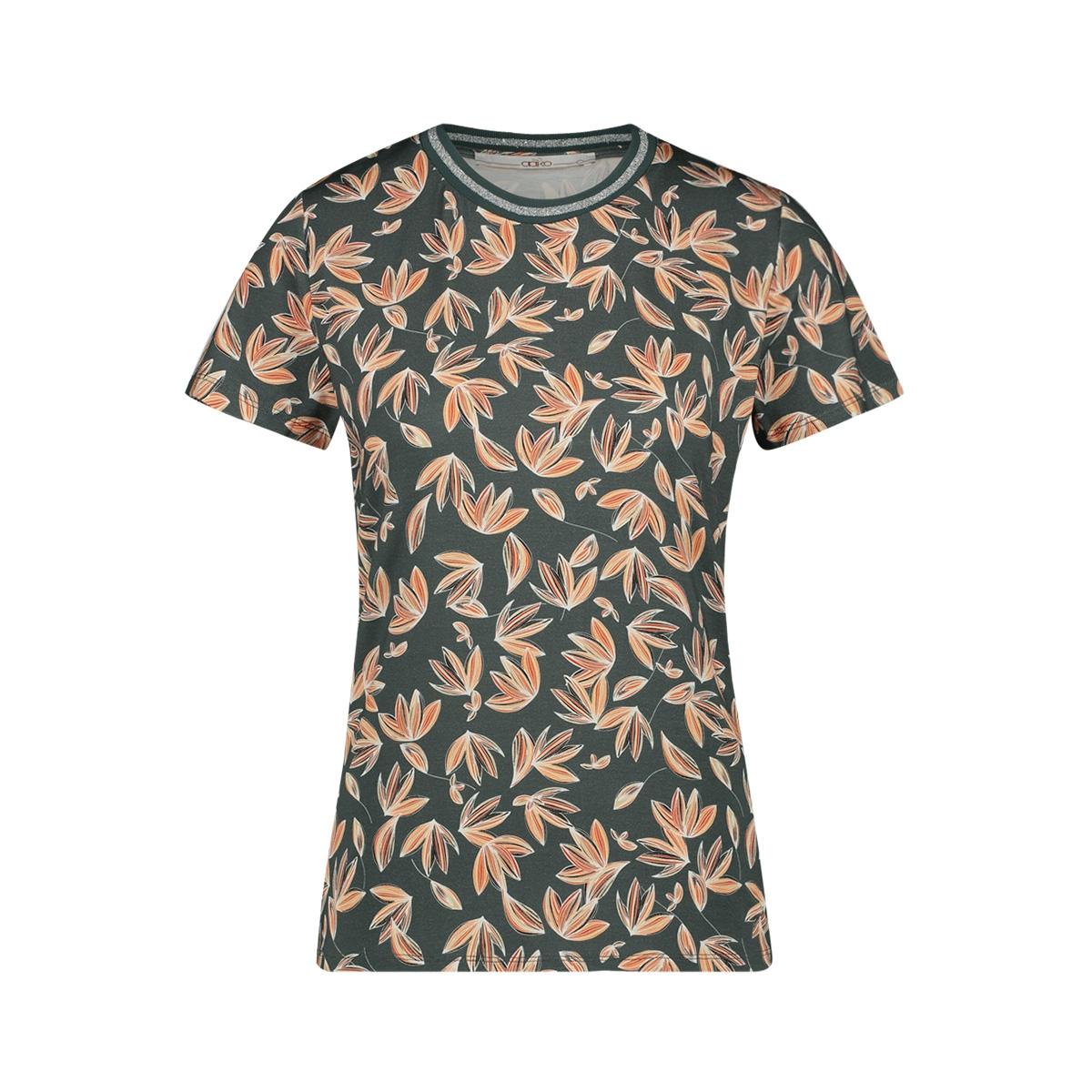alicia leaves vis 200 aaiko t-shirt steel green