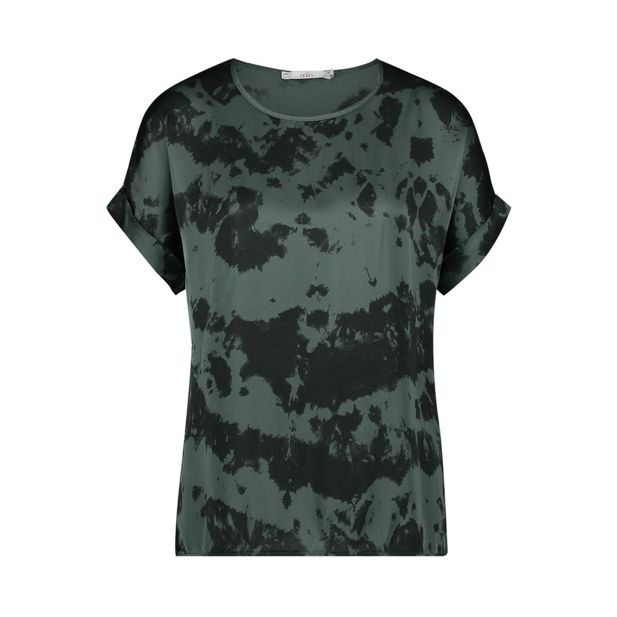 merle tiedye vis 616 aaiko t-shirt steel green