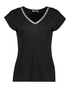 Geisha T-shirt TOP S S NECK SPARKELS 03282 BLACK