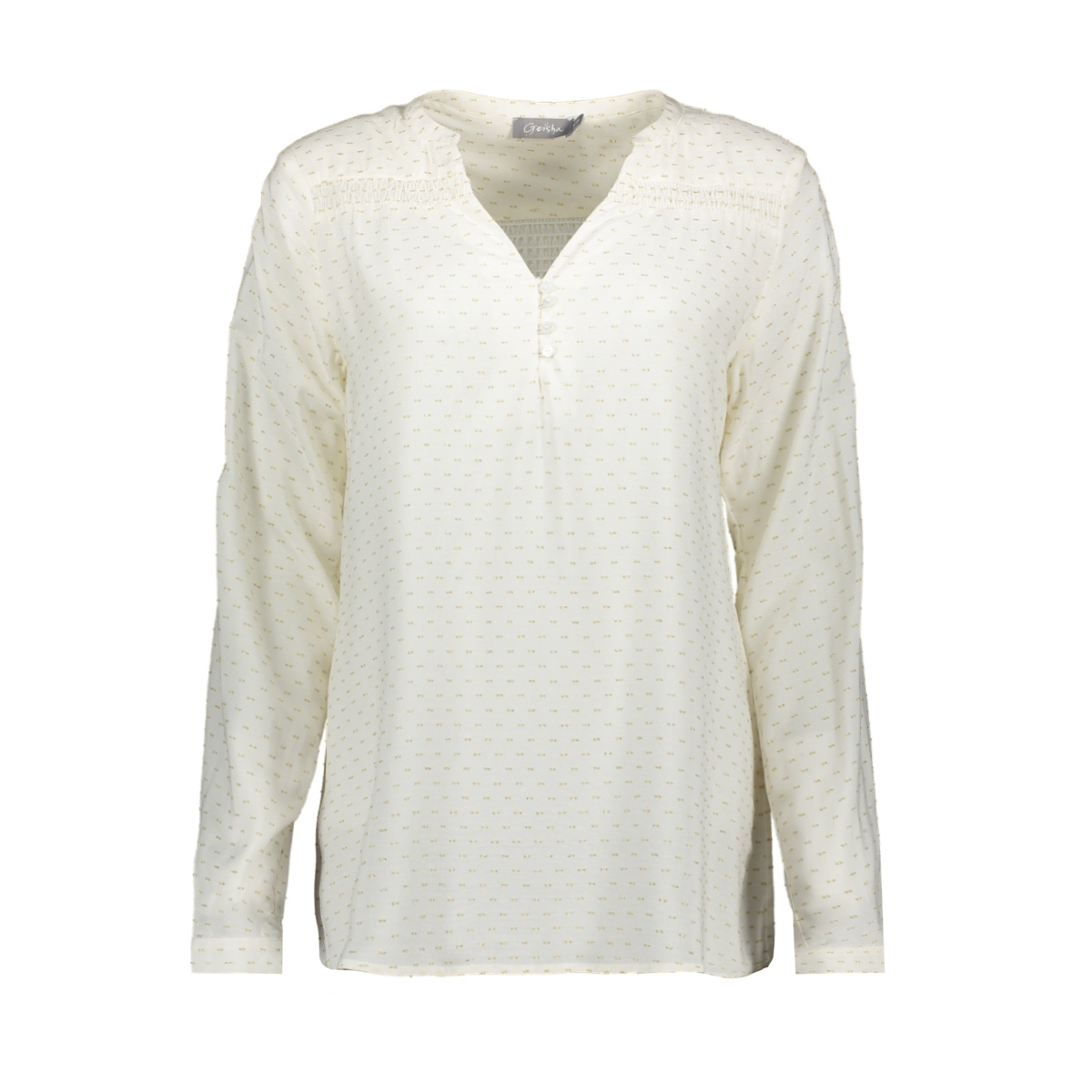 top smock and gold dots 03196 geisha blouse off-white/gold